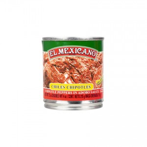 EL MEXICANO Ganze Chipotle Chilis - Chiles Chipotles Enteros, 215g