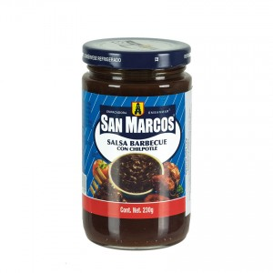 SAN MARCOS Barbecue Soße mit Chipotle Salsa Barbecue con Chipotle 230g