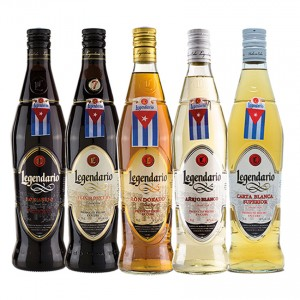 LEGENDARIO Rum-Geschenk-Set-5 Flaschen- Ron Set de Regalo 5 botellas