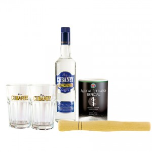 PONTO BRASIL LATINO Cubaney Rum Mojito Geschenk-Set- Ron Cubaney Mojito-Set de Regalo