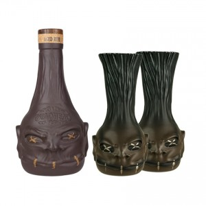 DEADHEAD Rum+2 Deko Becher-Geschenk-Set Ron+ 2 tazas decorativas Set Regalo 700ml 35%vol