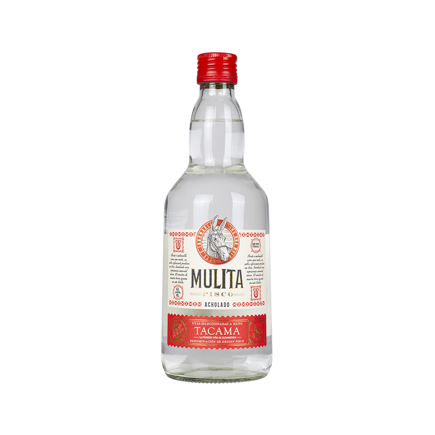 MULITA Pisco Acholado, 700ml, 40% vol. 40% vol.