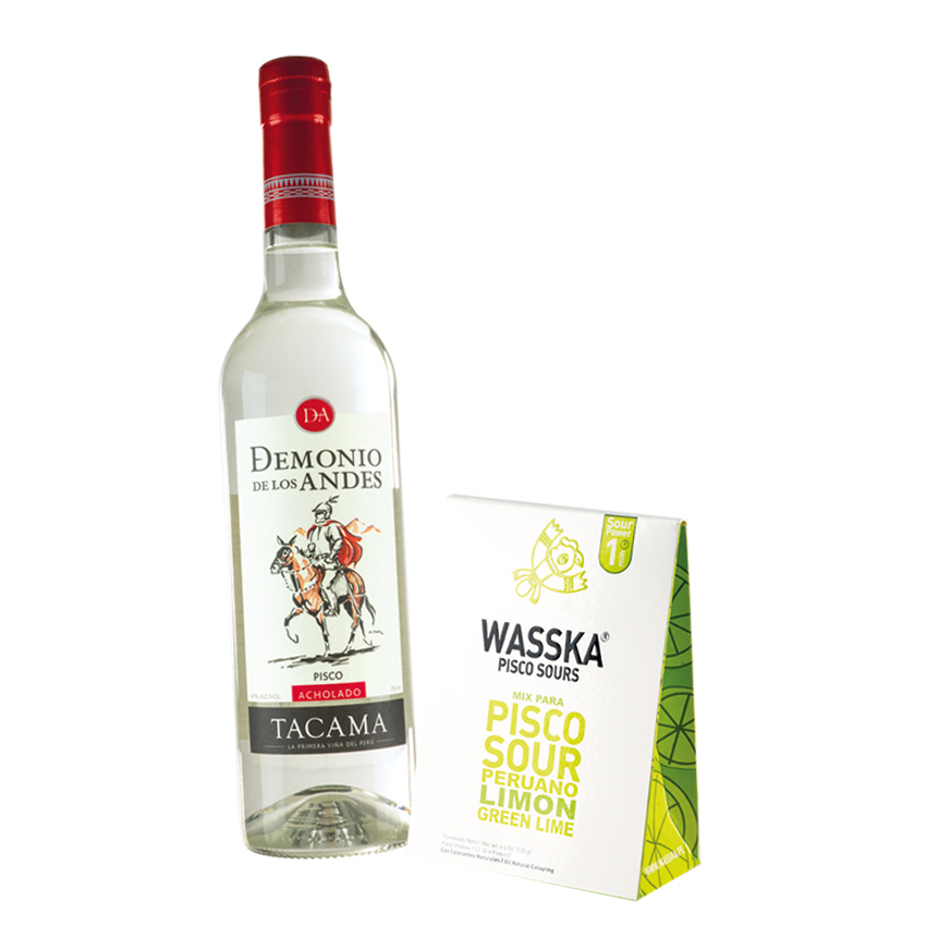 TACAMA Pisco Sour -Geschenk-Set-Pisco Set de Regalo